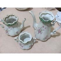 Porcelana Inglesa Thos Hughes & Sons Bule Leiteira Açucar