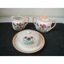 #1599# 3 Peças De Porcelana Japonesa Antigos Açuc Leit Mante