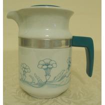 Bule Ou Leiteira Porcelana Pozzani Decor Azul 16cm Com Tampa