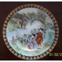 Antigo Pratinho Decoração Kutani Em Porcelana Japonesa