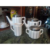Jogo De Chá E Café Em Faiança Wmf 4 Peças