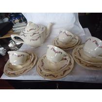 Bule E Xícaras De Chá De Porcelana Inglesa