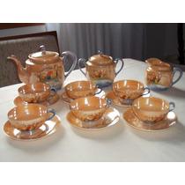 Jogo/conjunto De Chá Porcelana Japonesa Casca De Ovo Antigo!