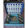 Conjunto 6 Xícaras Pequenas De Porcelana Vera Cruz E Prata