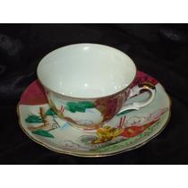 Linda,colecionável Xícara Vintage Chá Dec.ouro18k,japãodéc60