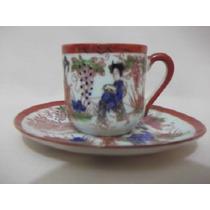 B. Antigo - Xícara De Café Em Porcelana Japonesa Pele De Ovo