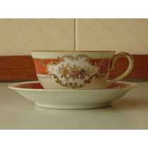 Elegante,linda Xícara Porcelana Japonesa Dec.ouro 18k,déc.60