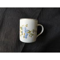 Xicara Para Café Sem Pires De Porcelana Schmidt. Floral.