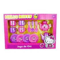 Jogo De Xicara P/chá Hello Kitty C/bule E Acessórios 13 Pcs