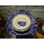 Linda E Antiga Xícara Chá Japonesa Flow Blue !!