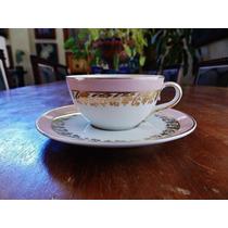 Antiga Xícara Café Rosa Ouro Com Trigo Schmidt Rio Do Testo