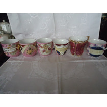 Xícaras Bordadas De Porcelana, Izabelinas Ou Caipiras