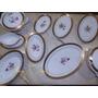 Baixela Louça Prat Porcelana Luxo Brennand Ouro Flor Vintage