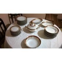 Aparelho De Jantar Em Porcelana Real 42 Peças Decada De 60