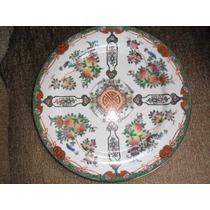 Antigo Prato Decorativo Em Porcelana Chinesa