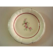 Lindo Prato Decorativo C/ Flores De Porcelana Nadir- Anos 50