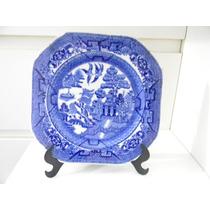 Prato Decorativo Em Porcelana Willow Thos Hughes E Son 22cm