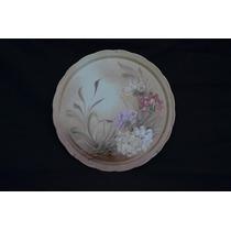 Prato De Bolo - Decoração - Floral - Pintado A Mão