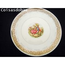 Prato Decorativo Bodas Prata Cena Romantica Porcelana Cchic