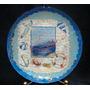 Prato Em Vidro Decorativo Com Decoupage Craquele 22,5 Cm.