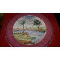 Prato Bolo Ou Parede-porcelana Nadir Antigo-pintado A Mão