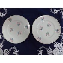 2 Pratos De Porcelana Real Decorativos