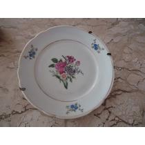 Pequeno Prato Decorativo Em Porcelana Real