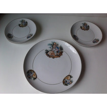 Jogo Para Bolo - Porcelana Monte Alegre - Década De 50