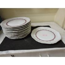 #9099# 12 Pratos Em Porcelana Real Antigos Rasos!!!