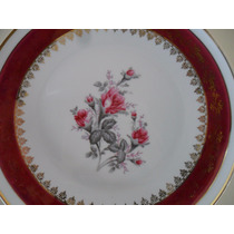 Prato De Parede Antigo Porcelana Schmidt Floral C/ Suporte!!