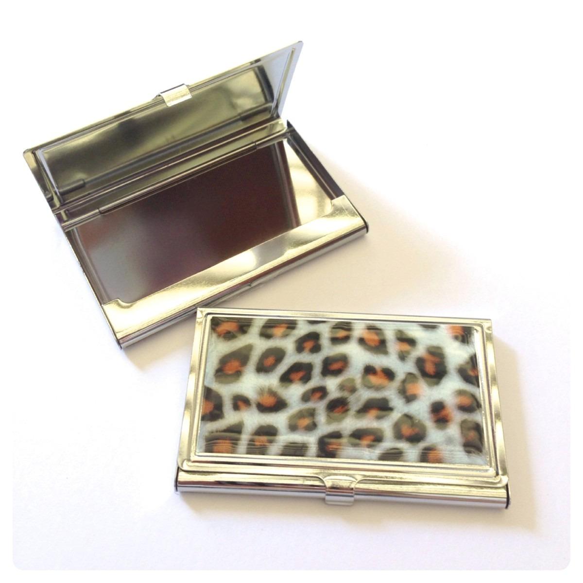 Porta Cartão De Visitas Crédito Oncinha Metal Pronta Entrega - R$ 12