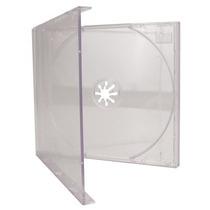 50 Capa Caixinha Acrilica Cd Box Tradicional Transparente