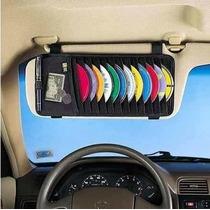 Porta Cd Dvd Veicular Quebra Sol De Carro 18 Cds Automóvel