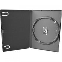 Estojo Capa Box Preto P/ Dvd/cd Amaray 10 Unidades
