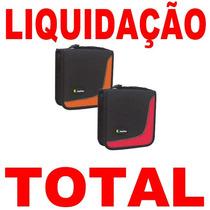 Porta Cd Dvd Travel Line P/ 32 Unid Leadership + Nota Fiscal
