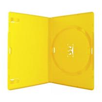 Estojo Capa Dvd Box Amaray Amarelo Grosso C/100 Unidade Novo