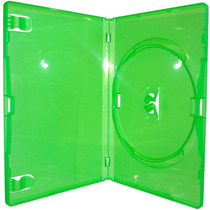 200 Estojo Capa Dvd X-box Amaray Verde Grosso 14mm Novo
