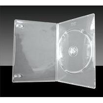 100 Estojo Caixa Dvd Slim Amaray Videolar Transparente Preto