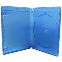 Estojo Capa Dvd Box Blu-ray Azul Grosso C/100 Unidades Novo