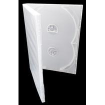 30 Capas Estojos Box Transparentes Quadruplas Para Dvd