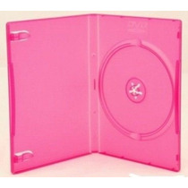 25 Estojo Capa Box Rosa Para Dvd Xbox360 Filme Ou Cd Amaray