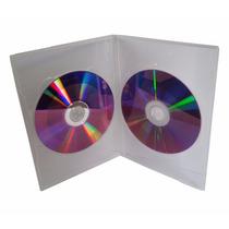 100 Capa Caixinha Dvd Slim Dupla Box Estojo Transparente