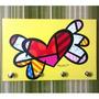 Porta Chave Placa Decorativa Romero Britto Pop Art Quadro