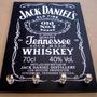 Porta Chave Placa Decorativa Jack Daniel´s Tennessee Whiskey