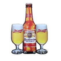 Porta Chaves Budweiser Cerveja Placa Retrô Bar Decoração