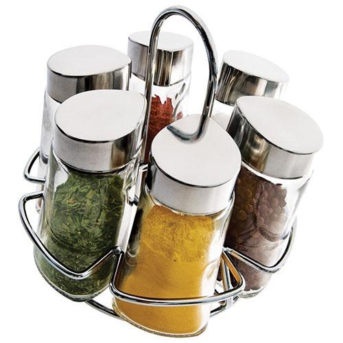 Porta condimentos inox redondo 6 pe as r 49 90 em for O que e porta condimentos