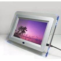 Porta Retrato Digital 7 Polegada Com Controle Remoto Mp3 Mp4