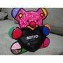 Romero Britto Porta Retrato Urso Fun Coração Para 01 Foto