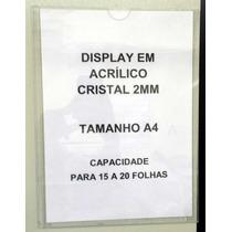 Kit 10 Pç - Display A4 - Acrílico 2mm - Para Parede, Pain...