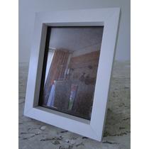Porta Retrato Branco Em Madeira 13x18